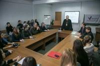 В рамках Месяца политической науки в КГПУ им. В.П. Астафьева прошла тематическая встреча с Митрополитом Пантелеимоном