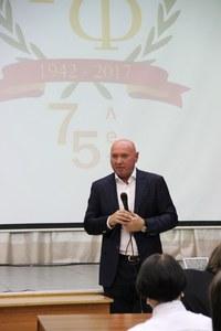 Депутат Сергей Натаров на ИФ КГПУ