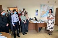 Студенты первого курса в администрации Советского района