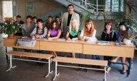 Студенты исторического факультета - организаторы проведения дней Европейского университета (Санкт-Петербург) на историческом факультете. Июль 2008 г.