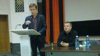 """О. Мясоутов (V курс), на заседании общества """"Мемориал"""" в День памяти жертв политических репрессий"""