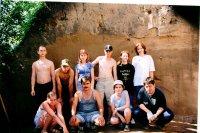 Студенты, участвовавшие в археологических исследованиях Афонтовой горы (г. Красноярск)  в 2006 году.
